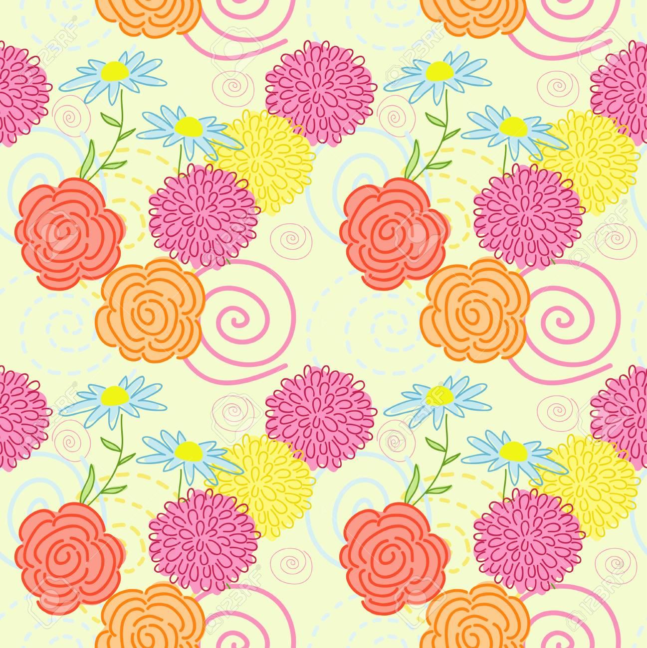Bright summer  background Stock Vector - 21044605