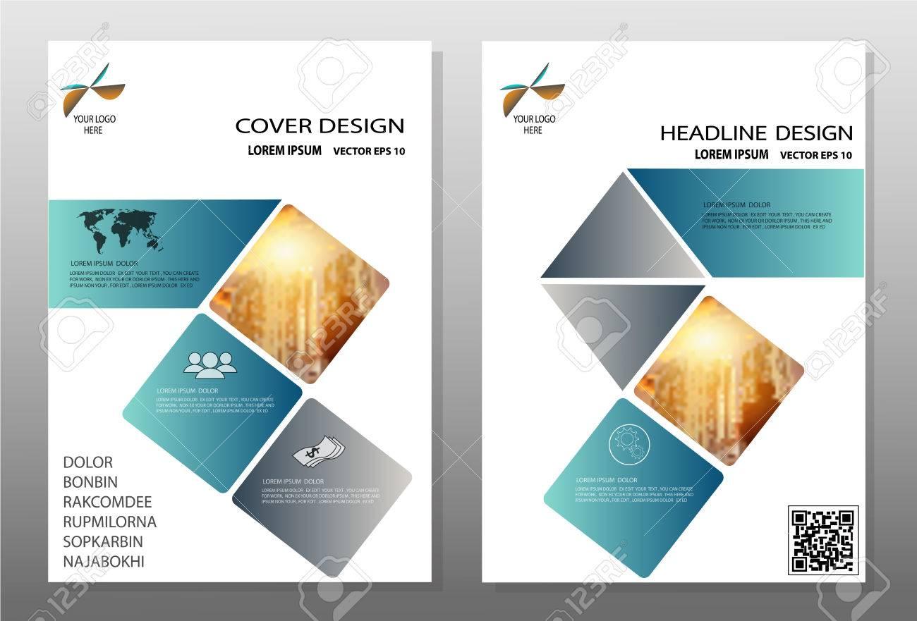 flyer blue annual report brochure modern flyer design template