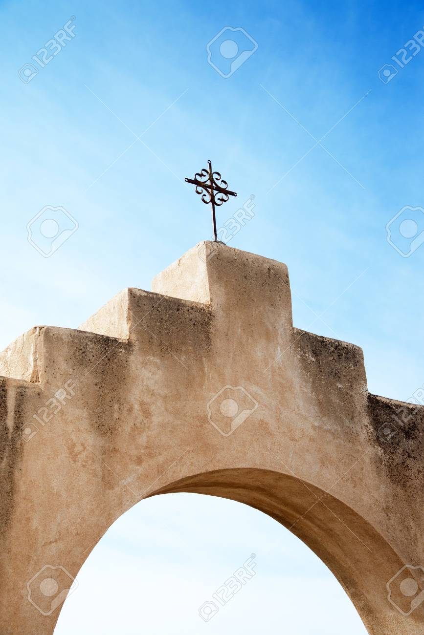 Cros At Mission San Xavier Del Bac In Tohono Oodham Indian