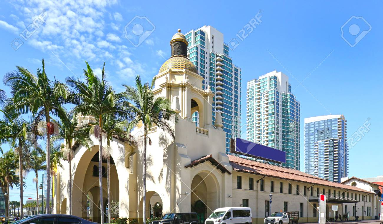 Santa Fe Train Depot Spanish Colonial Revival Style Station Stock Photo Picture And Royalty Free Image Image 117847667