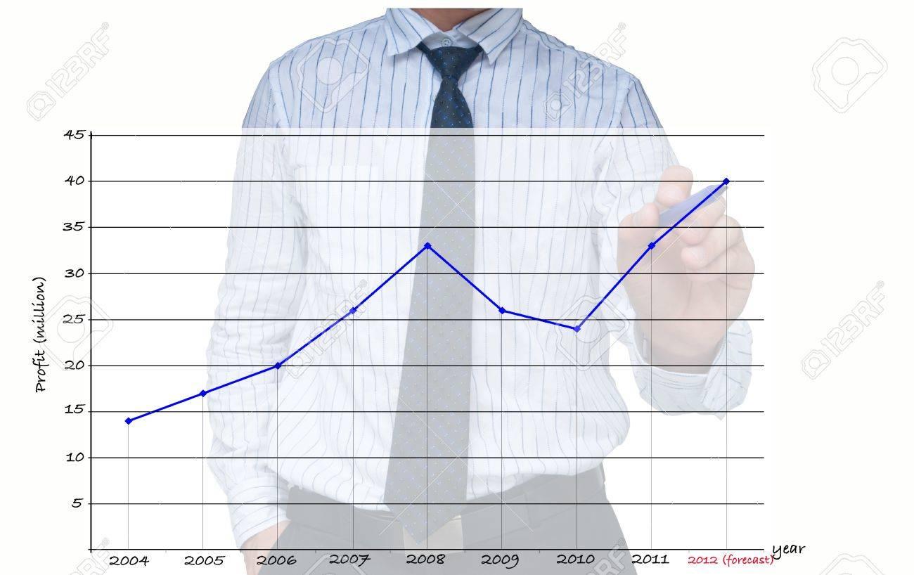 Businessman drawing increasing graph Stock Photo - 10429185