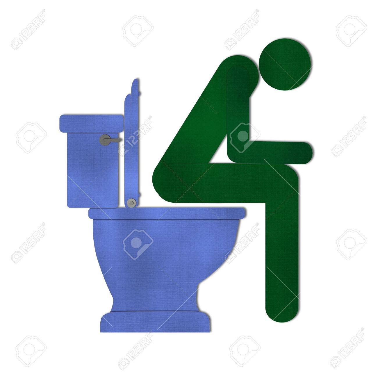 Man on toilet symbol from recycle paper stock photo picture and man on toilet symbol from recycle paper stock photo 15115281 buycottarizona