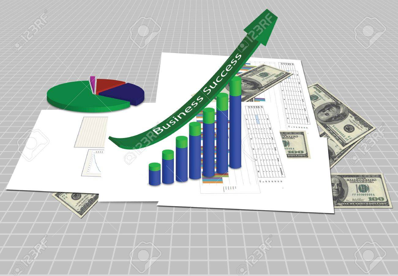 increasing graph with business plan stock photo picture and royalty