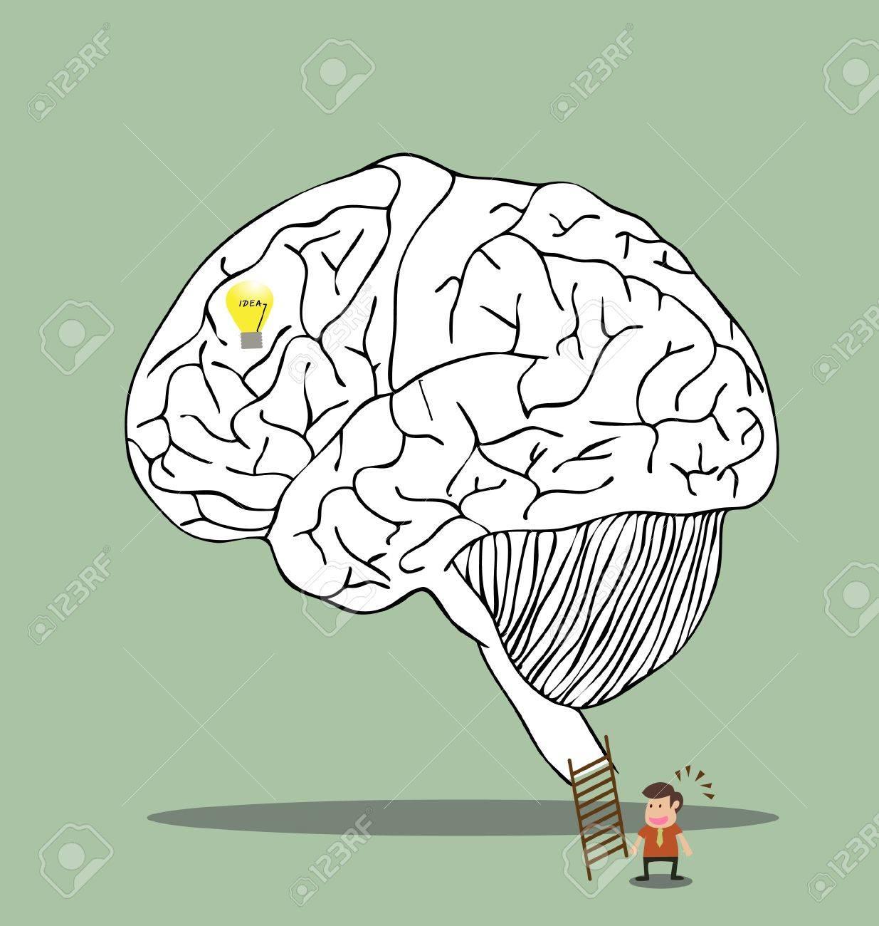 Vector cartoon of Brain labyrinth to secret idea Stock Vector - 19807336