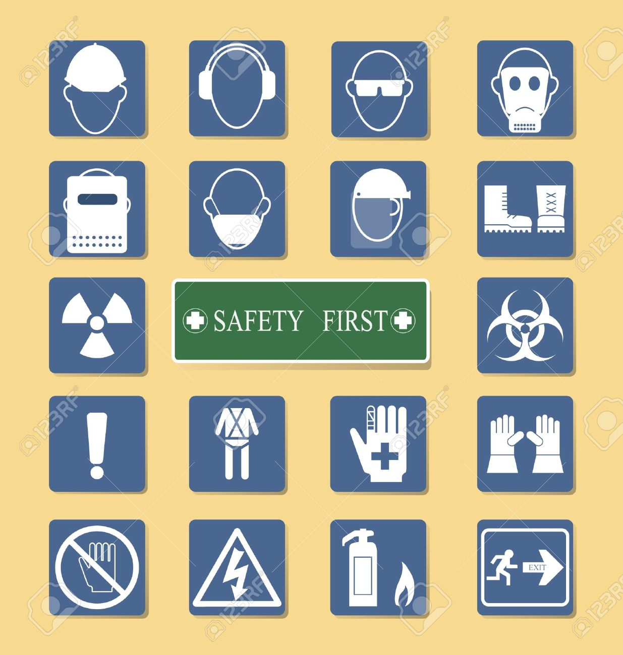 Vector of Set of Personal Protection Equipment  PPE Stock Vector - 19807364
