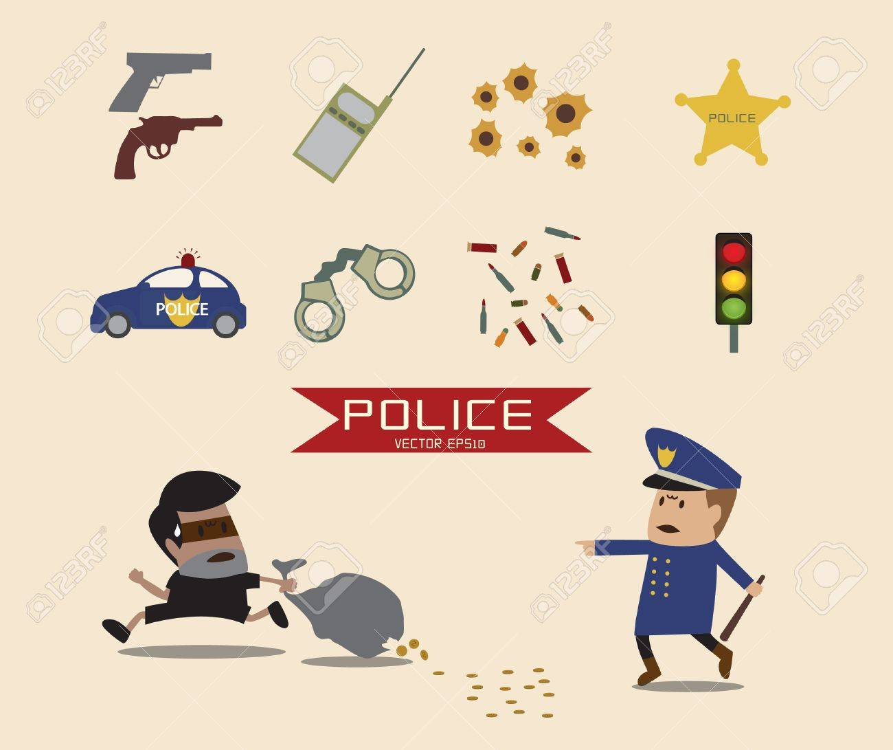 Police element Stock Vector - 22009961