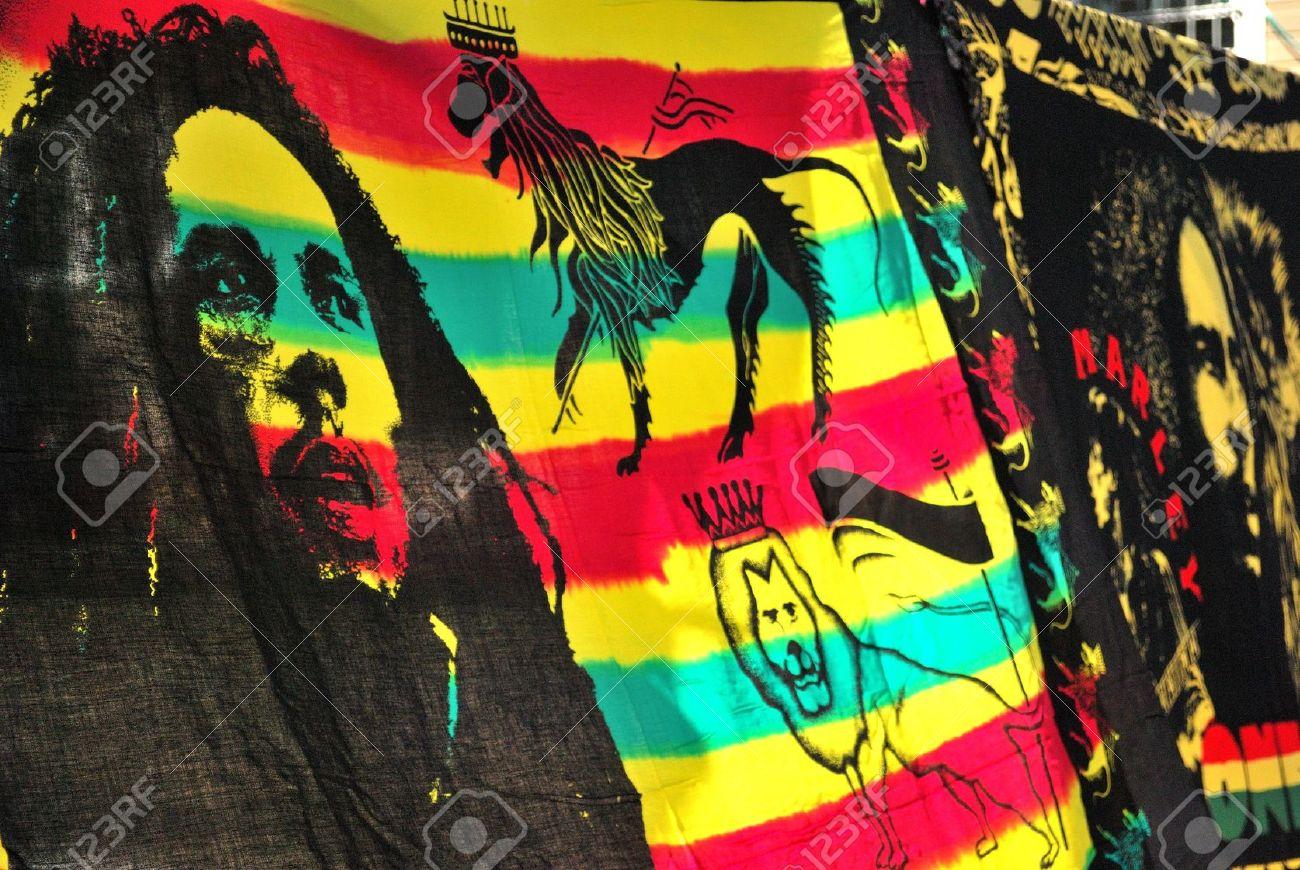 Bob Marley flag Stock Photo - 13877438