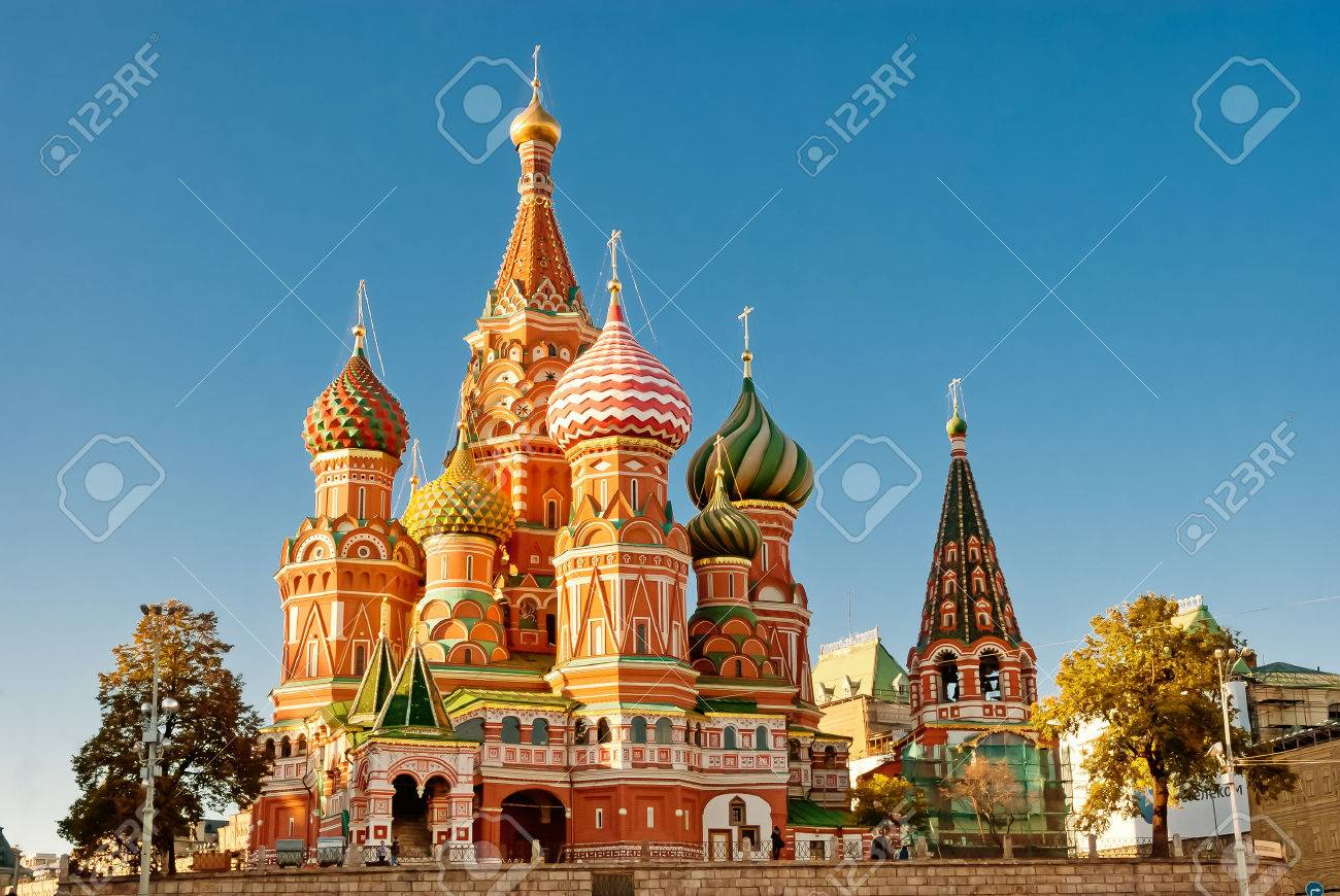 St. Basil Cathedral, Red Square, Moscow Stock Photo, Picture And ...