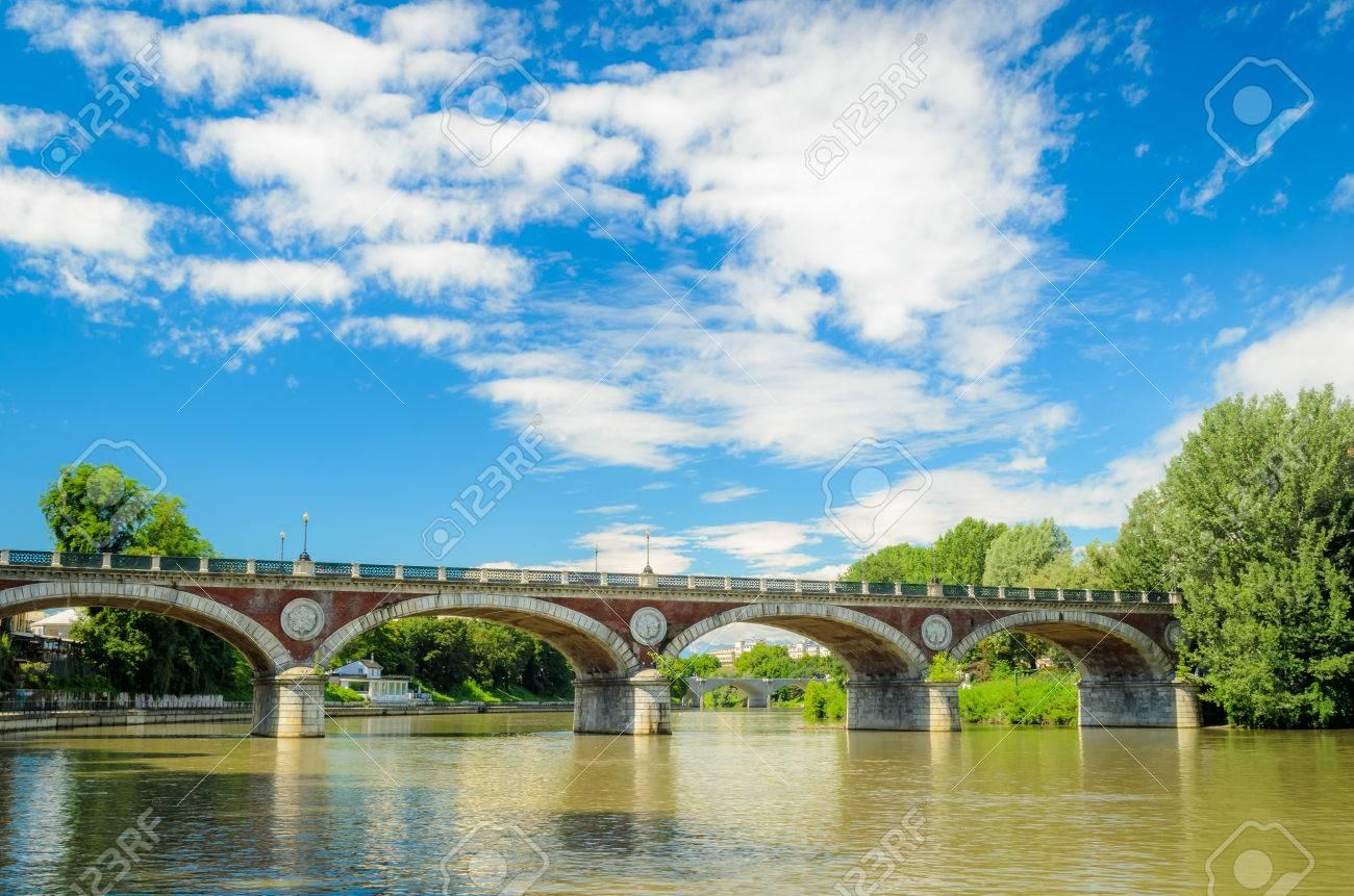 e0b7f970da Turin (Torino), River Po And Bridge Isabella Stock Photo, Picture ...