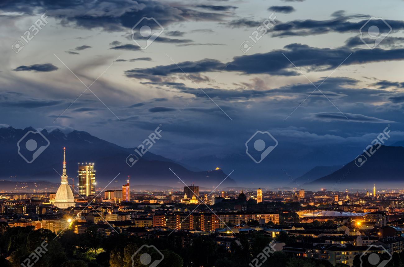 Turin (Torino) High Definition Panorama With All The City Skyline ...