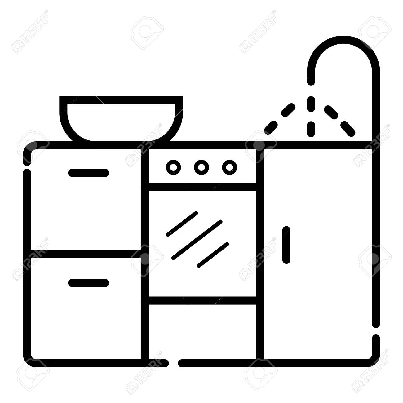 Kitchen Icon Vector Royalty Free Cliparts Vectors And Stock