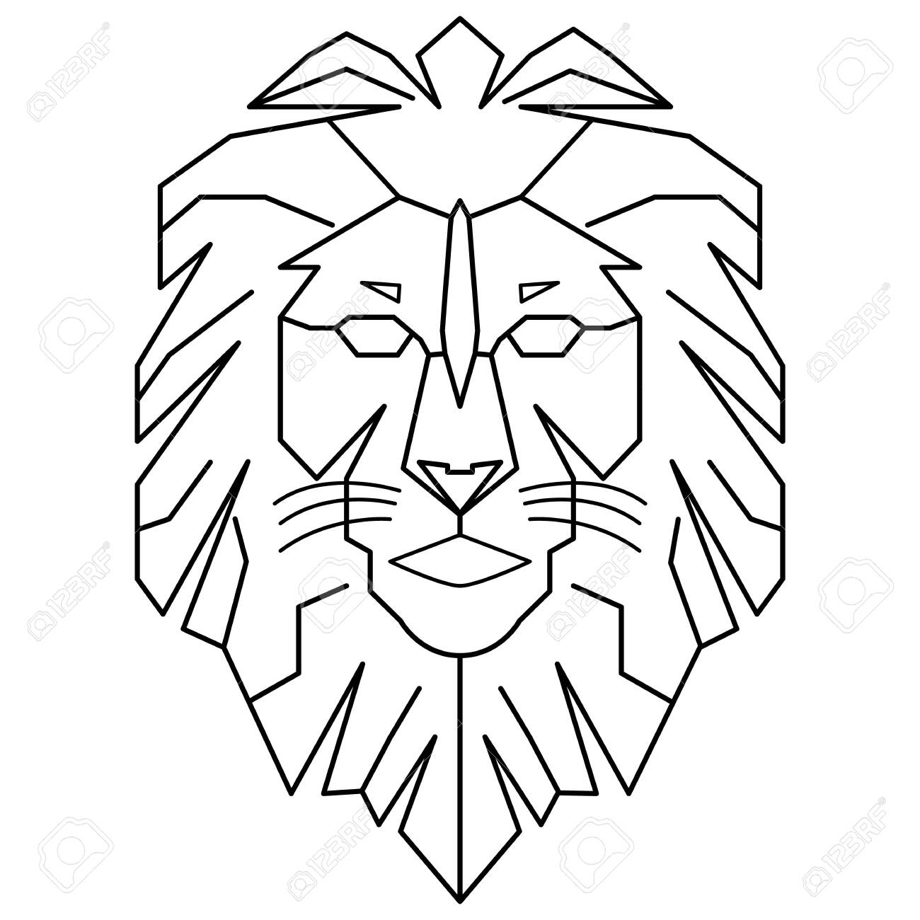 Geometric Lion King Walking Line Art Outline Vector Download Royalty Free Cliparts Vectors And Stock Illustration Image 133338564 There are three lion king movies: geometric lion king walking line art outline vector download
