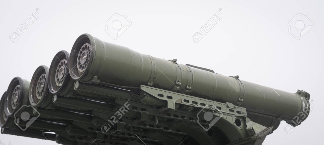 Combat venicle Conkurs 9P148, anti-tank gun closeup