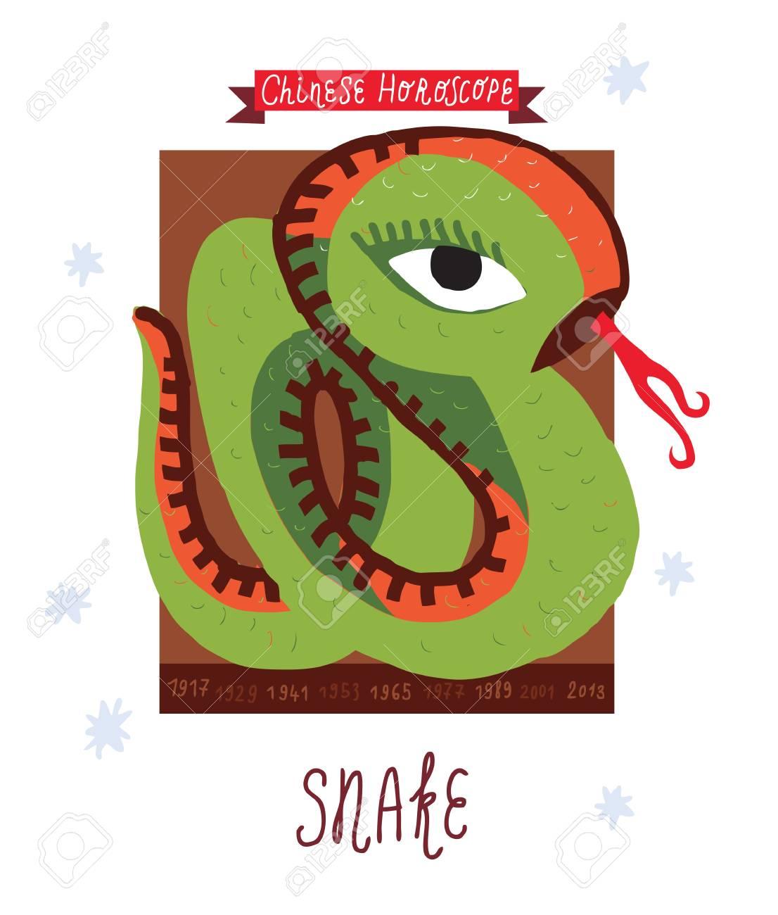 snake  horoscope Stock Vector - 15824935