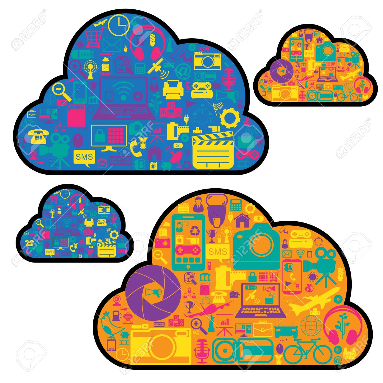 cloud network icons Stock Vector - 21324666