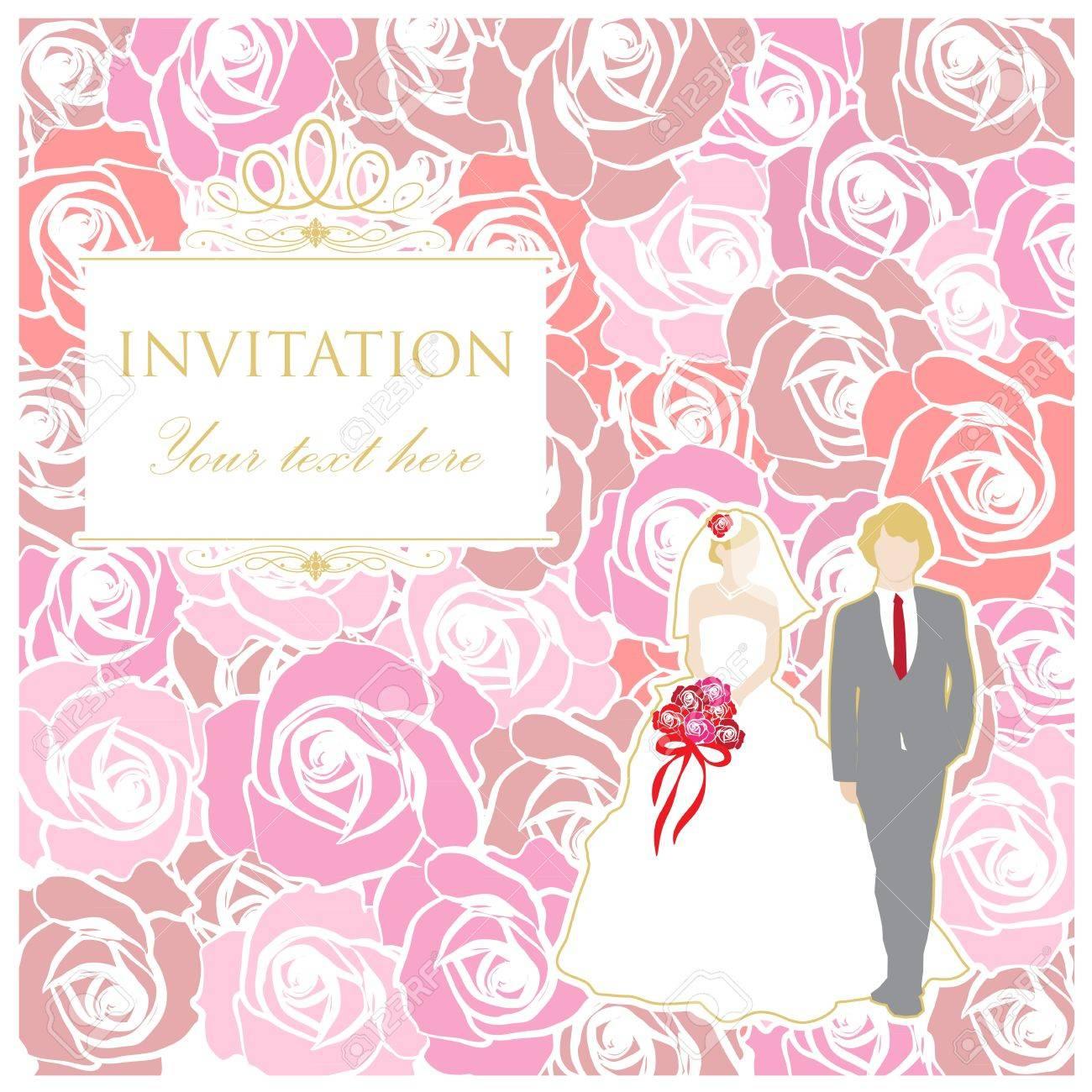 Wedding card background Stock Vector - 21324744