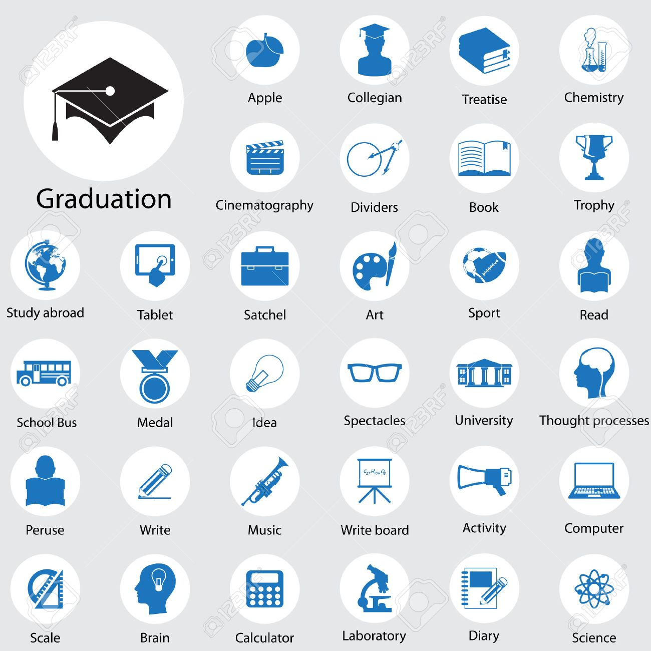 Education icons set Stock Vector - 22446766