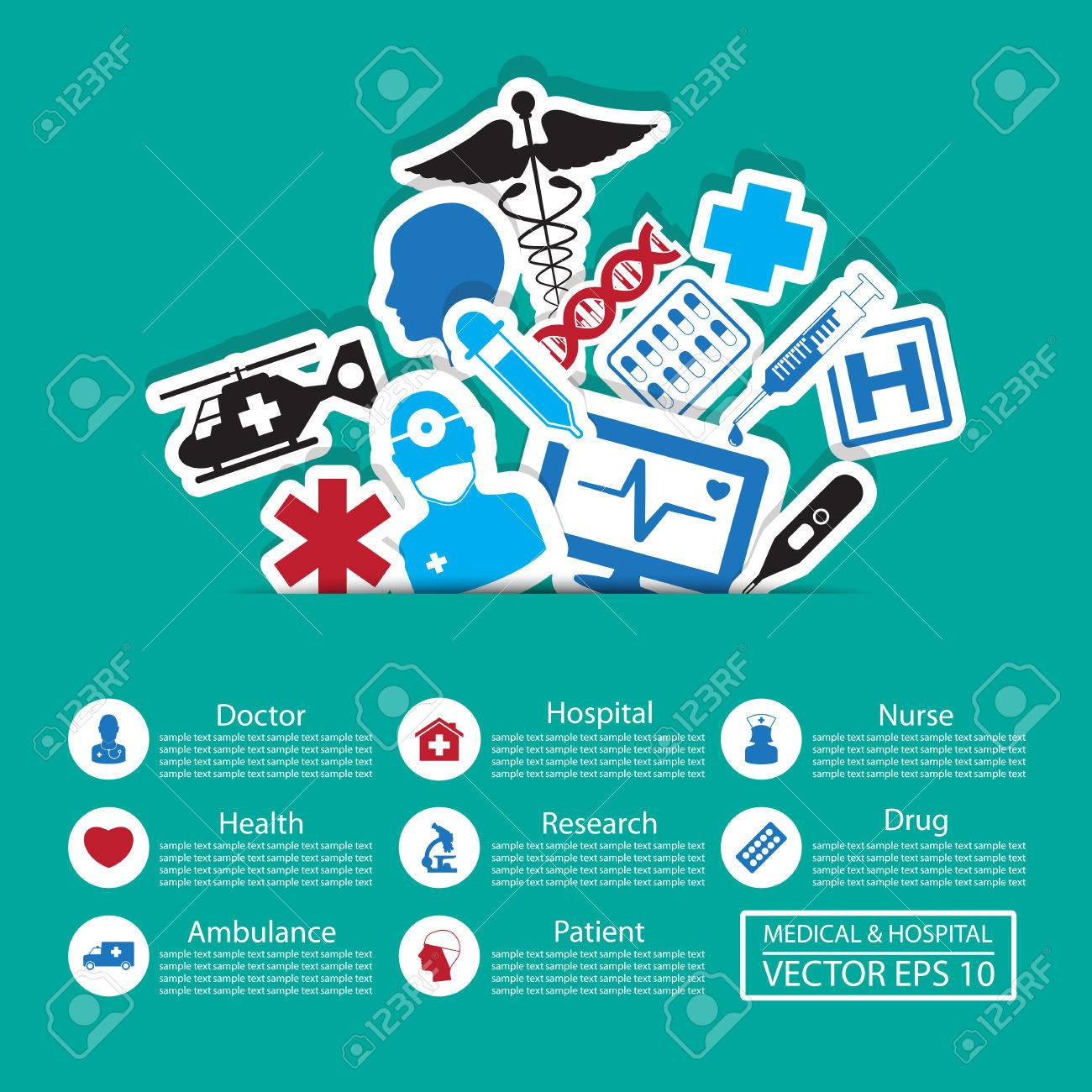 Medical icons ,Illustration eps 10 Stock Vector - 22446773