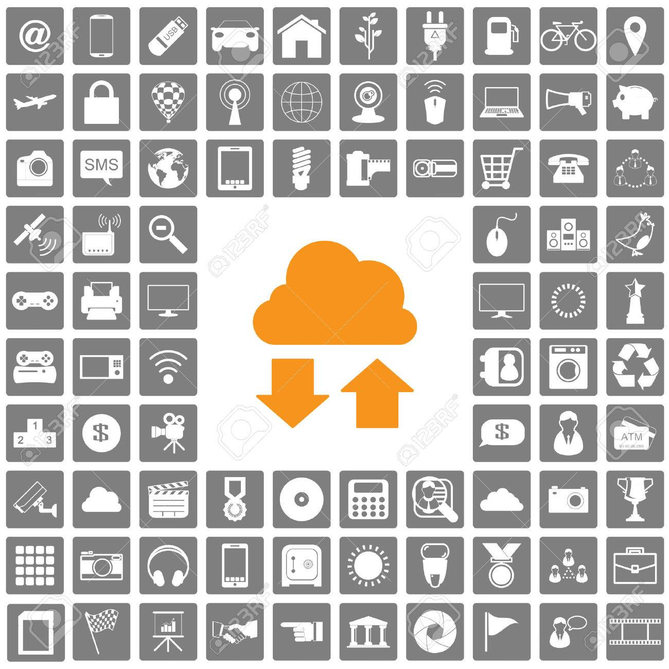 icons web set Stock Vector - 22455881
