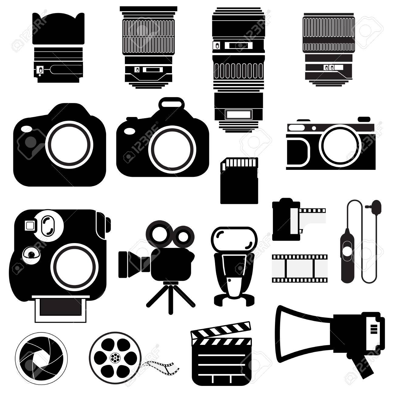 camera vector set royalty free cliparts vectors and stock rh 123rf com vector camera illustration vector camera outline