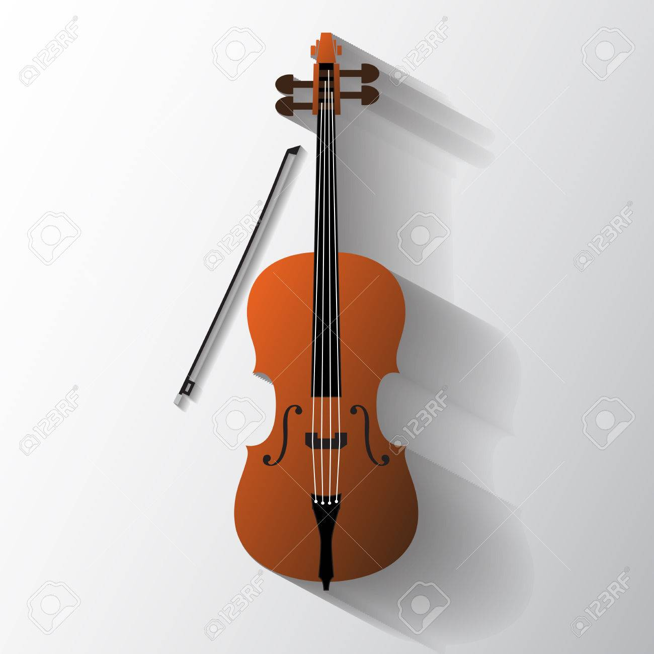 Cello Vector Symbol Stock