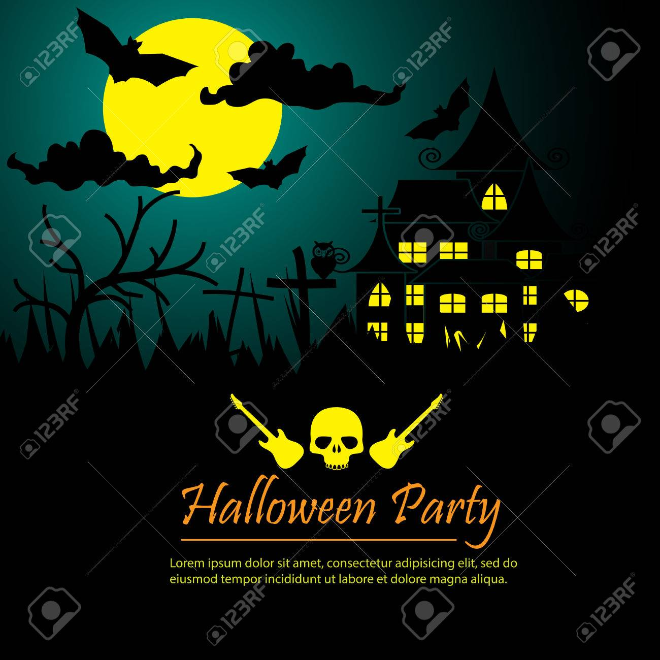 Halloween Party Poster Background Royalty Free Cliparts, Vectors ...