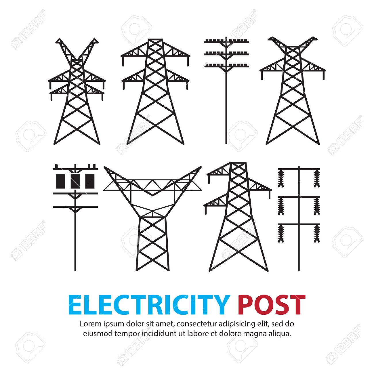 electric post,high voltage set - 37636122