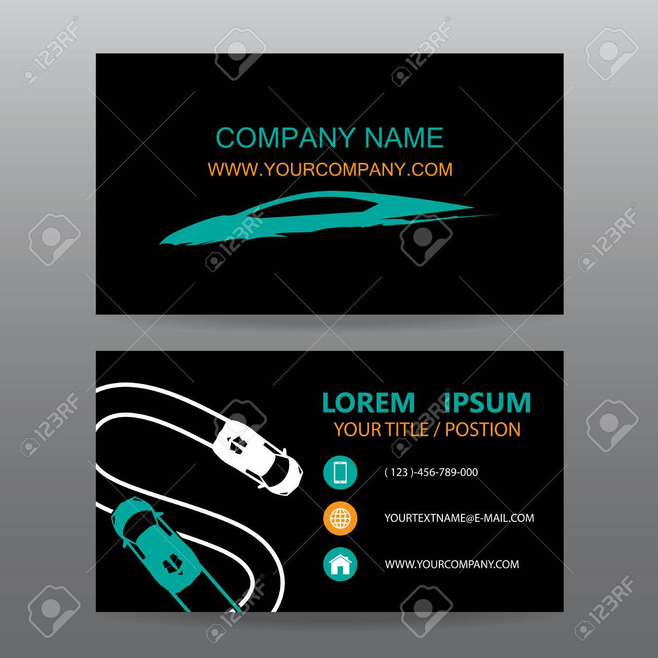 Business Card Vector Background,car Salesman Royalty Free Cliparts ...
