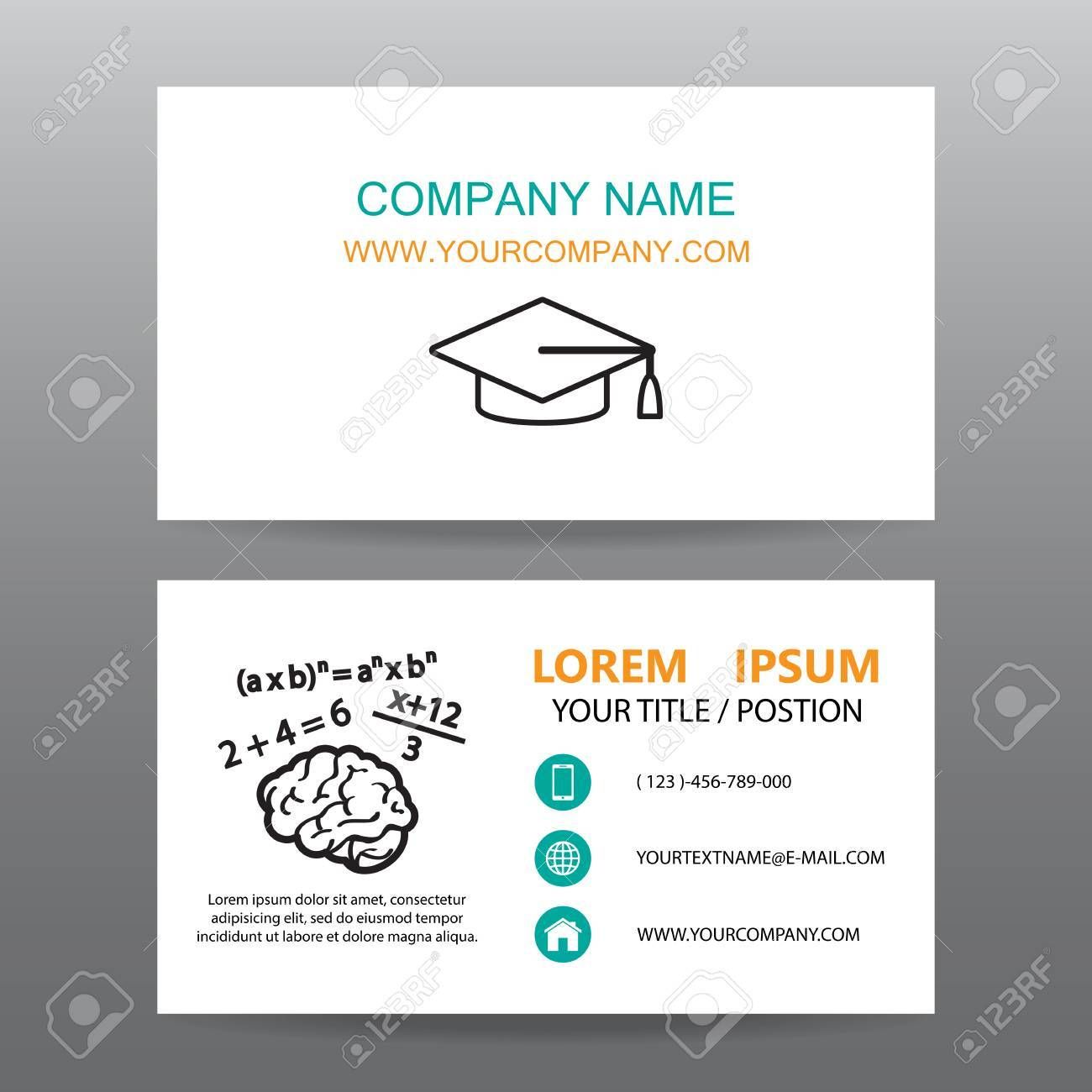 Business Card Vector Background,Professors Or Teachers Royalty Free ...