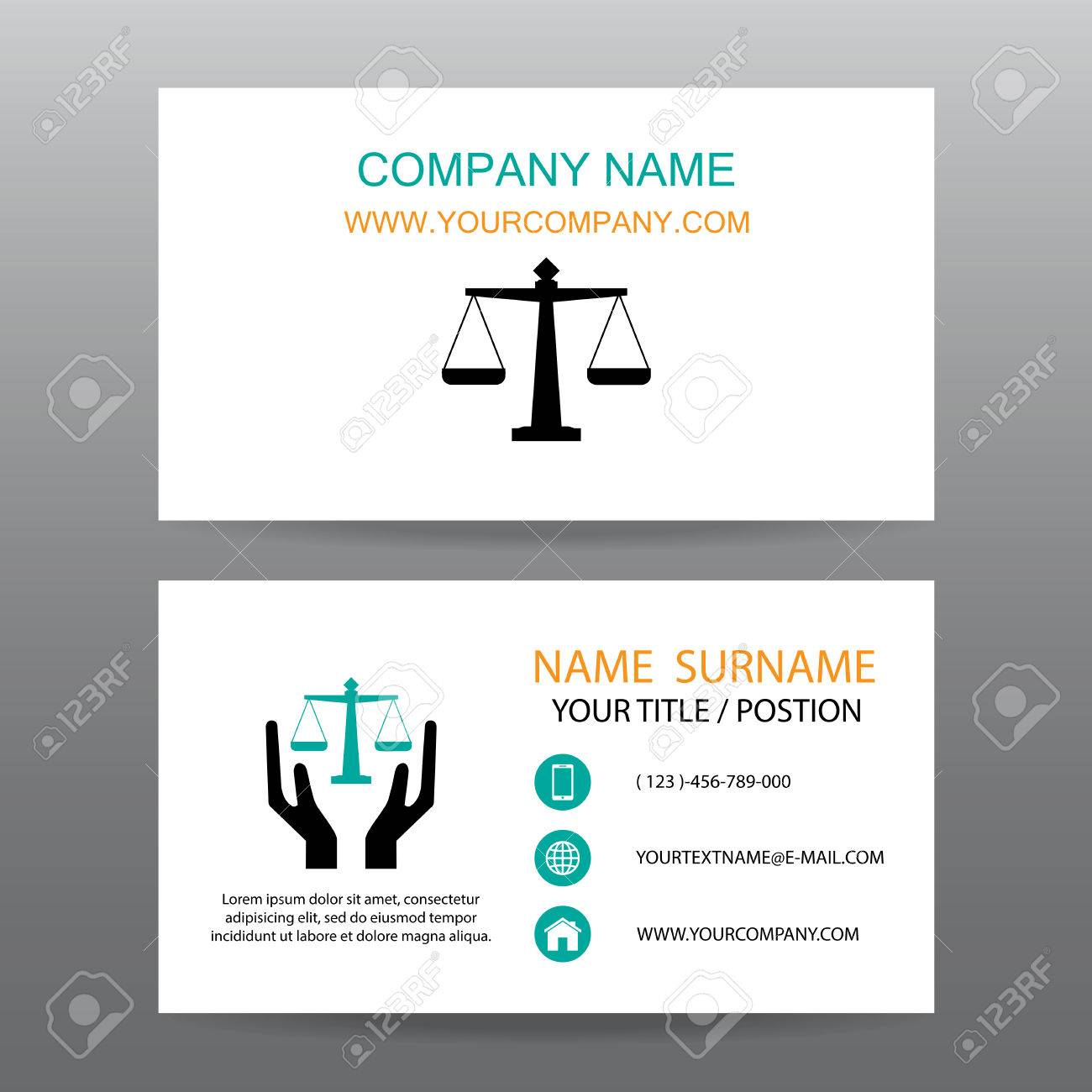 Business Card Vector Background,Insurance Law And Lawyer Royalty ...
