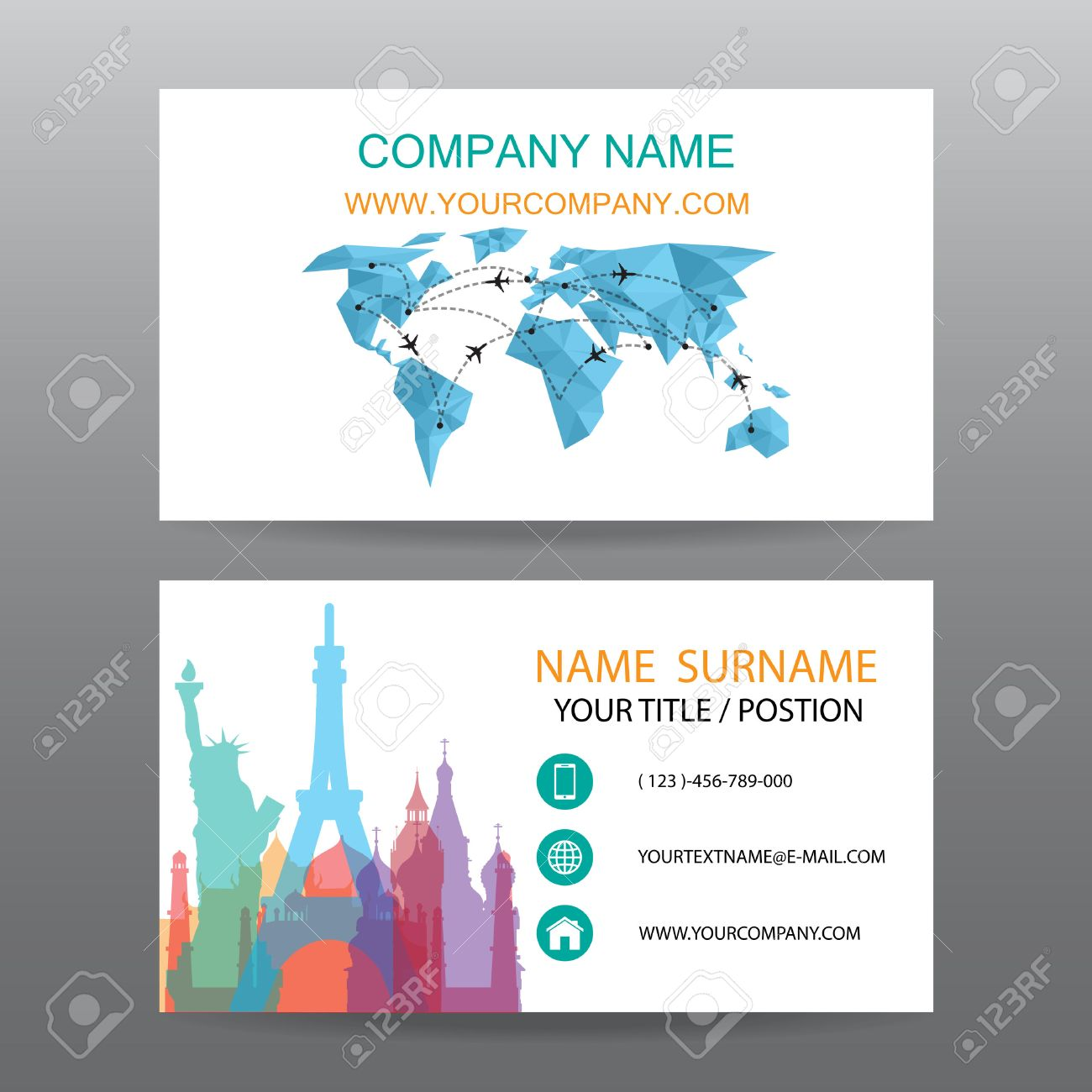 6,907 Airplane Business Card Cliparts, Stock Vector And Royalty Free ...