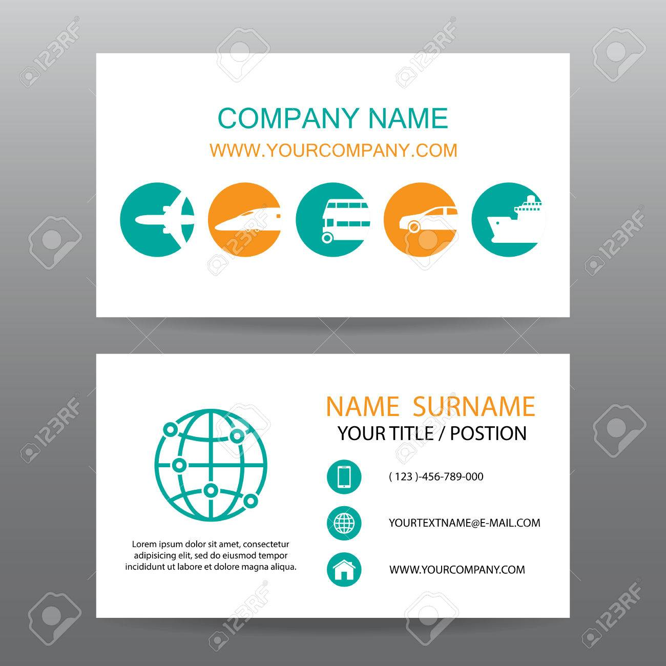 Business Card Vector Background,tour Companies Royalty Free ...