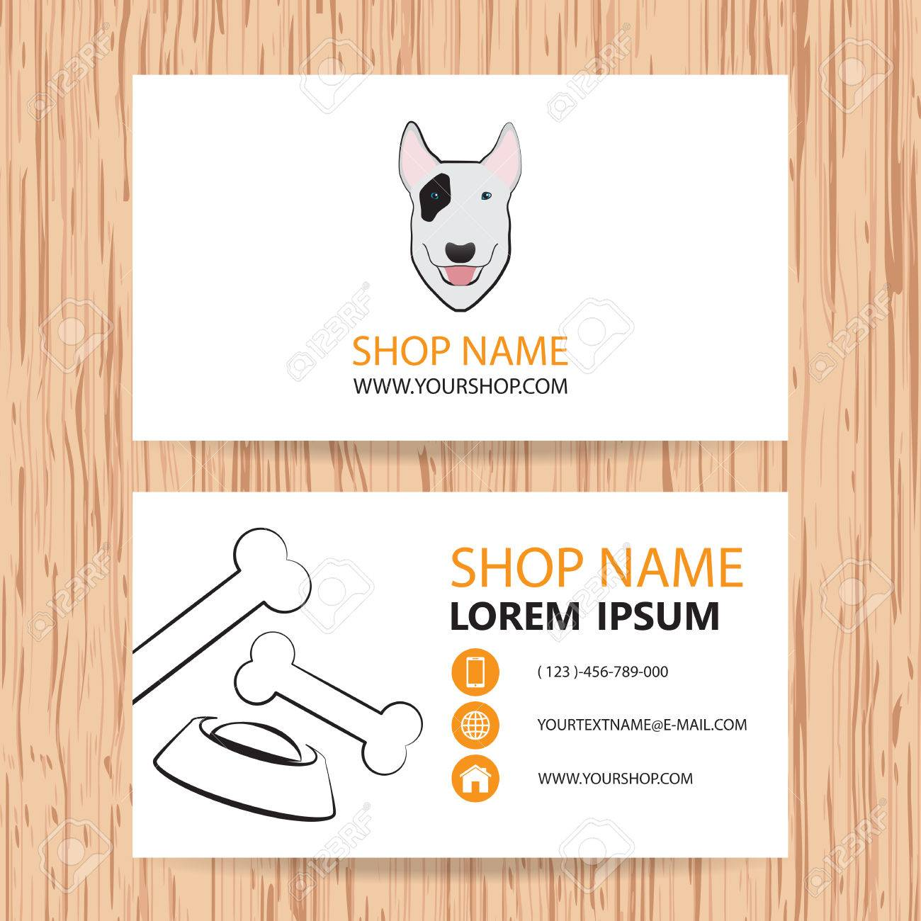 Business Card Vector Background, Veterinary,shop Animal Feed ...