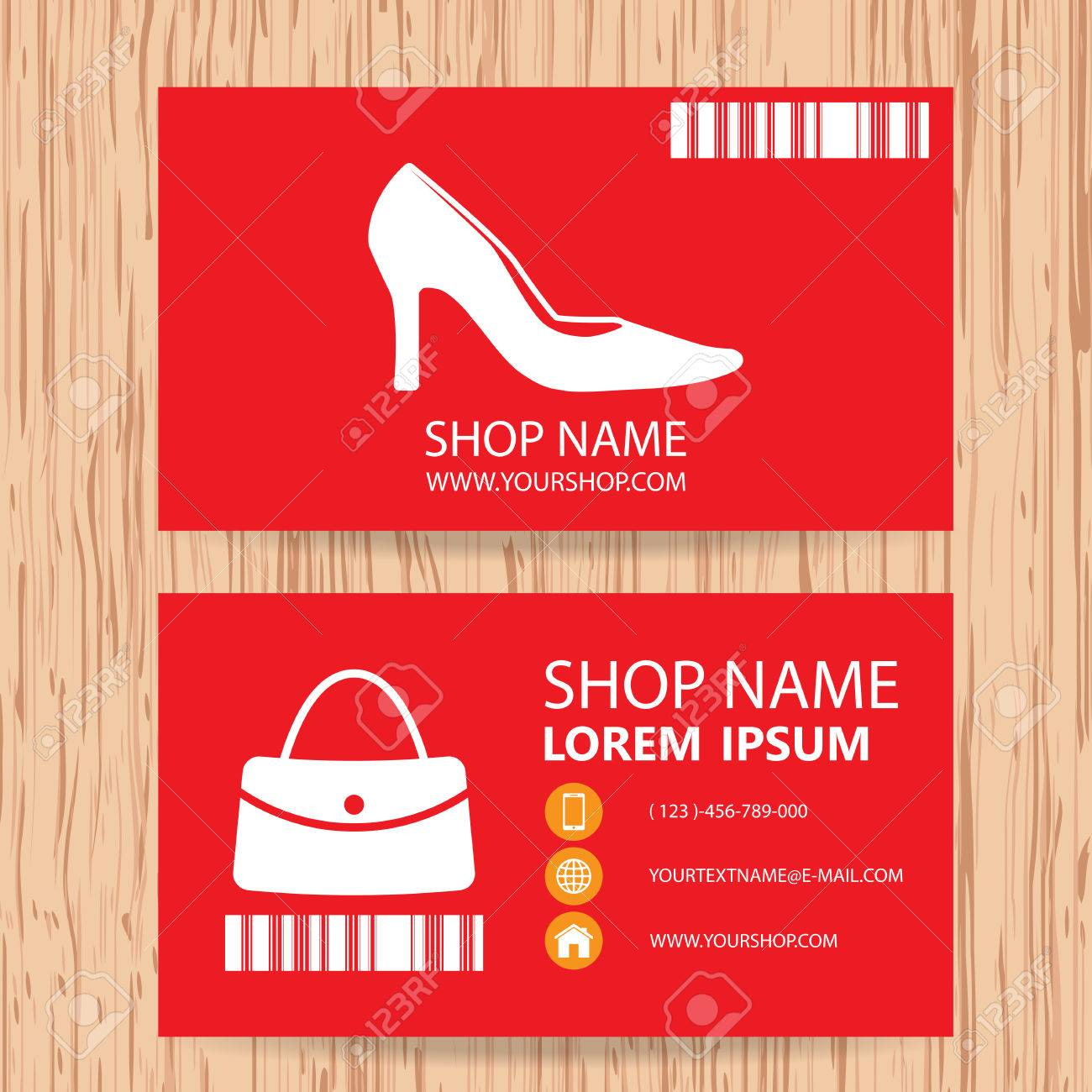 Business Card Vector Background Woman Fashion Store Royalty Free
