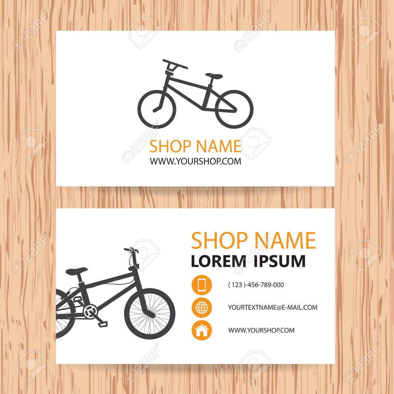 Business Card Vector Background, Bike Shop Royalty Free Cliparts ...