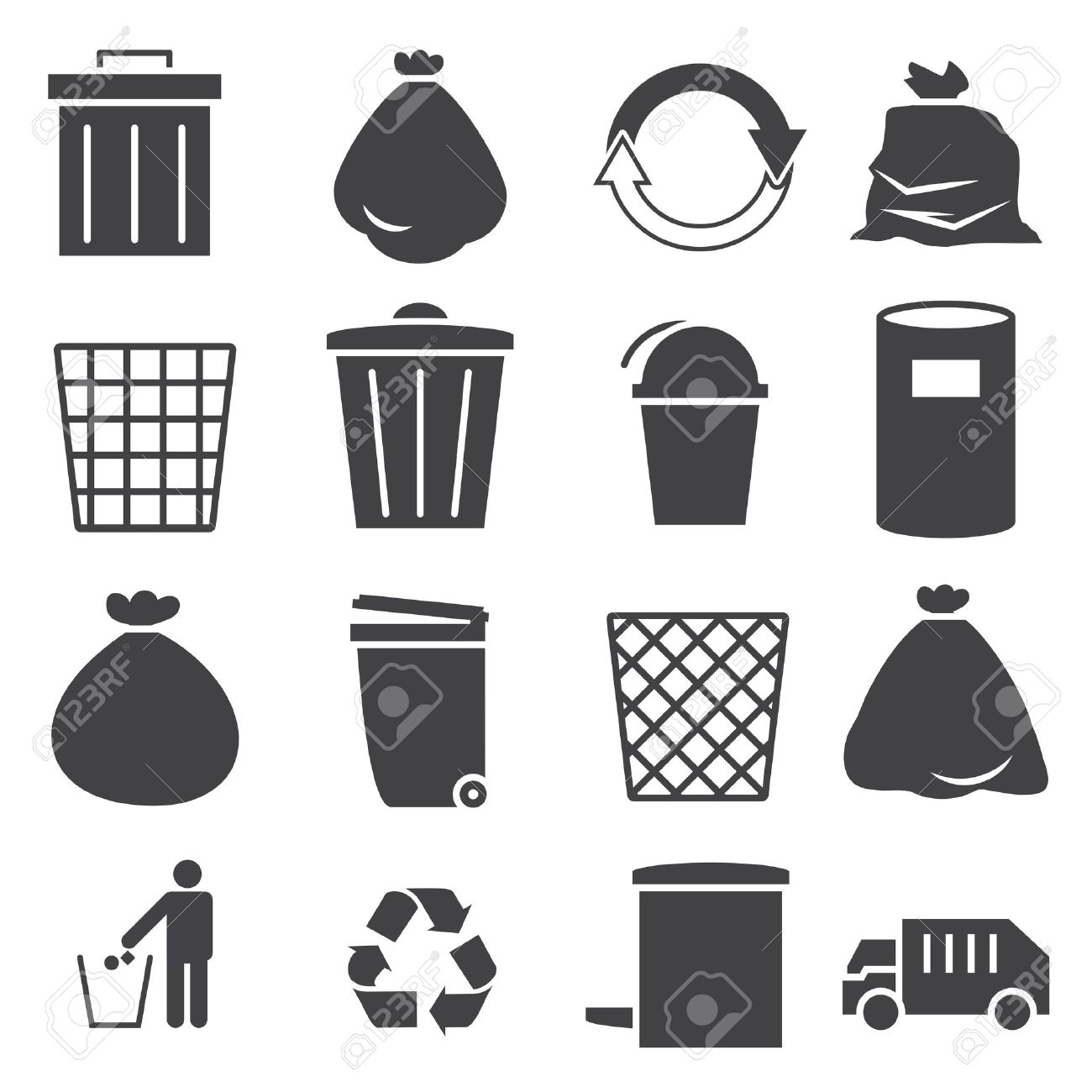 trashcan icon set - 39842169