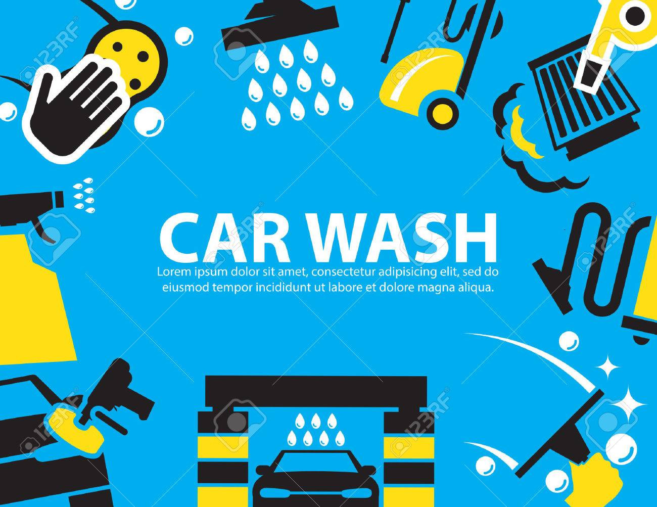 Car Wash Background Royalty Free Cliparts Vectors And Stock