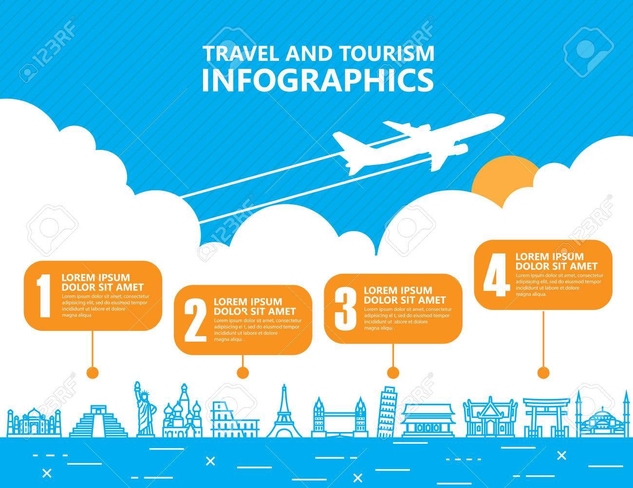 Travel infographics ,landmark and transport Stock Vector - 49870074