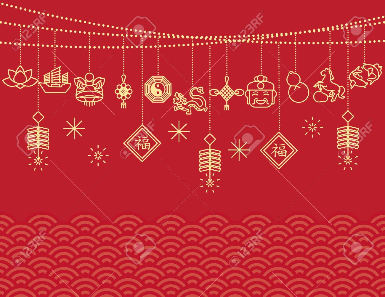 chinese new year backgroundcard print stock vector 53301647