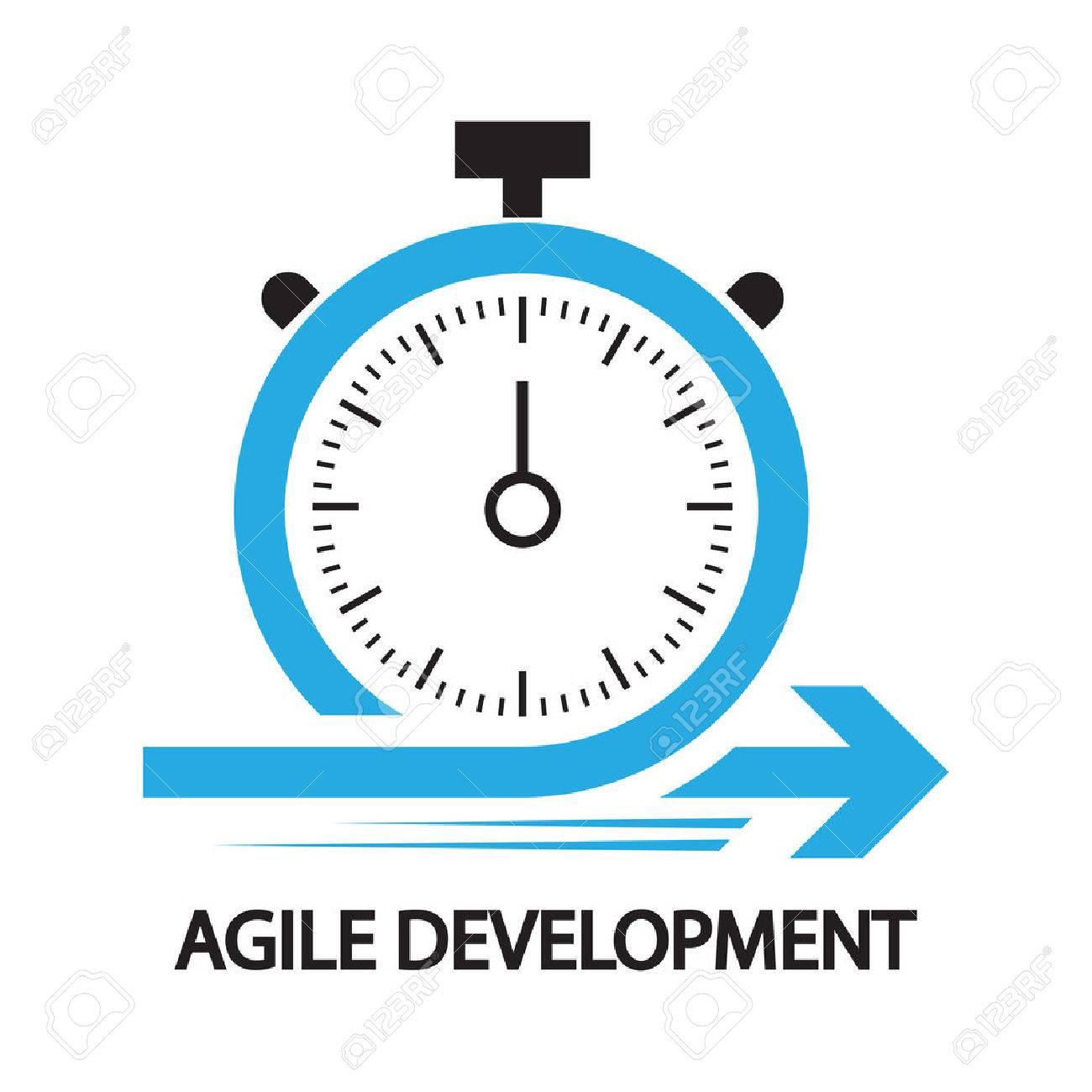 agile development,Stopwatch concept ,icon and symbol - 58946116