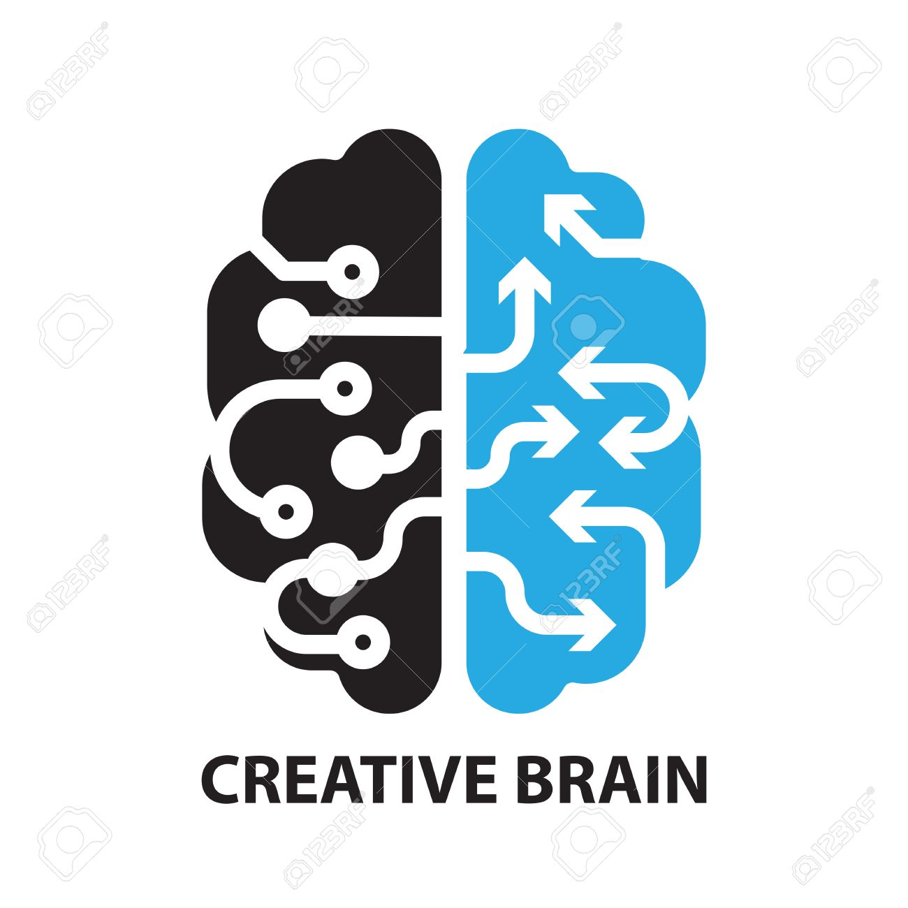 Creative brain icon and symbol royalty free cliparts vectors and creative brain icon and symbol stock vector 58946042 biocorpaavc Images