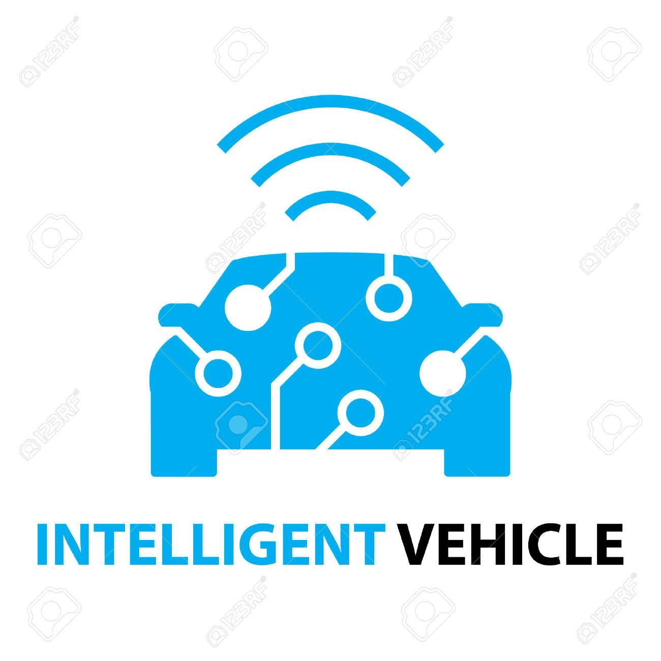 smart car,Intelligent Vehicle icon and symbol - 63399418