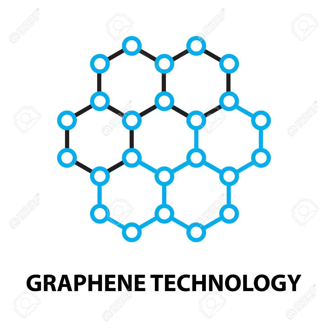 Graphene nano technology Icon, and symbol