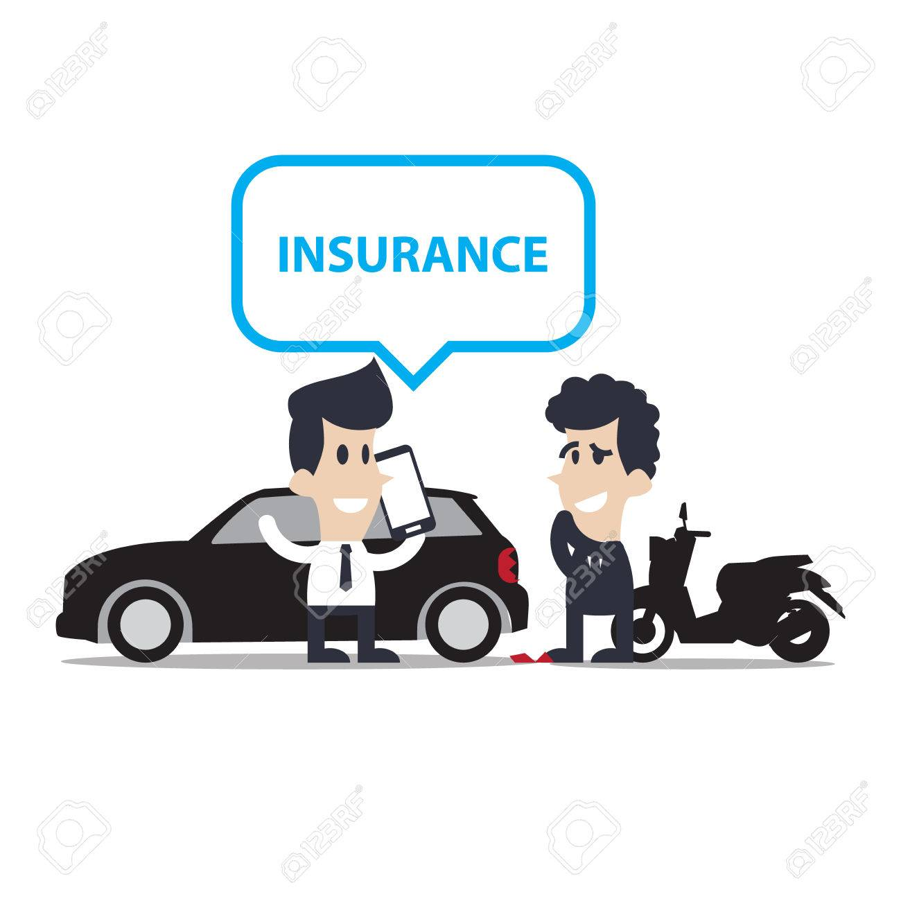 Autounfall Und Unfälle Motorrad Cartoon, Charakter Lizenzfrei ...