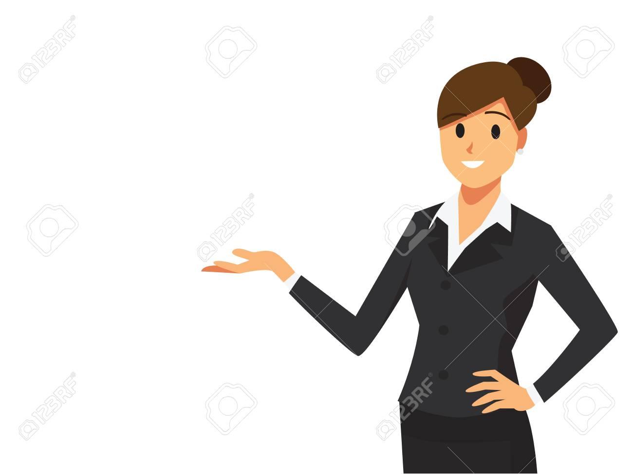 Businesswoman at a presentation - 90027791