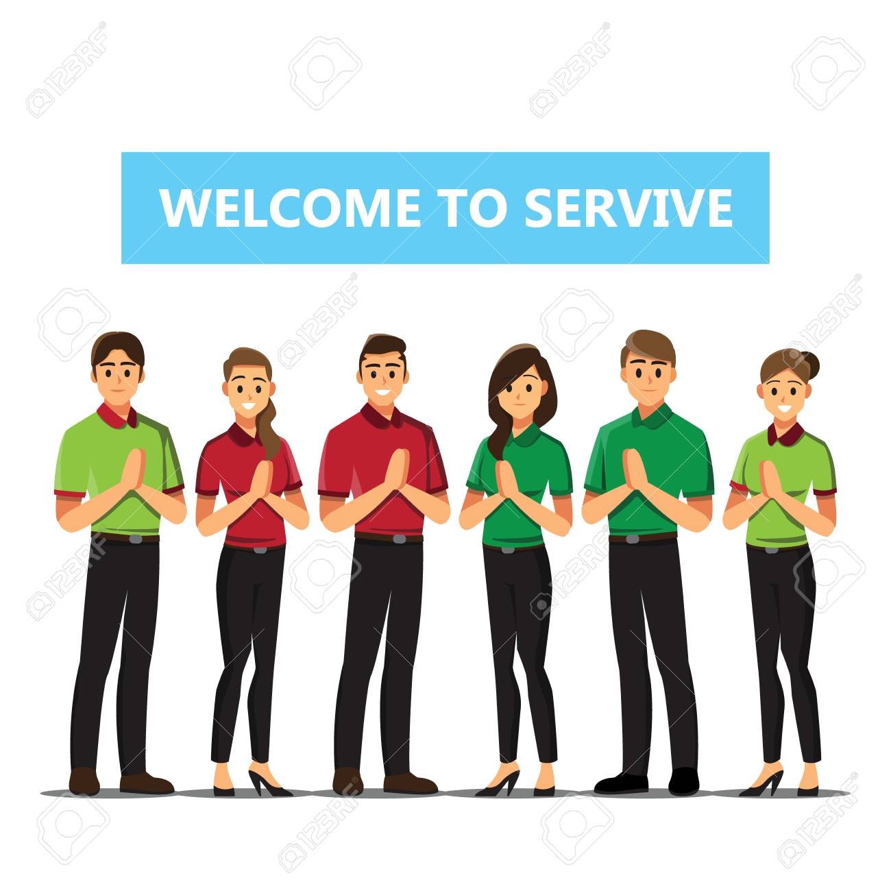 Receptionist Business People Welcome Concept Cartoon Illustration Royalty Free Cliparts Vectors And Stock Illustration Image 100408357