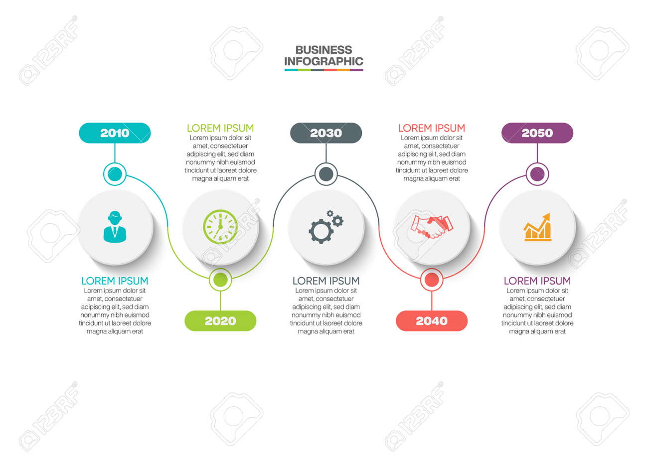 Business data visualization. timeline infographic icons designed for abstract background template milestone element modern diagram process technology digital marketing data presentation chart Vector - 166585484