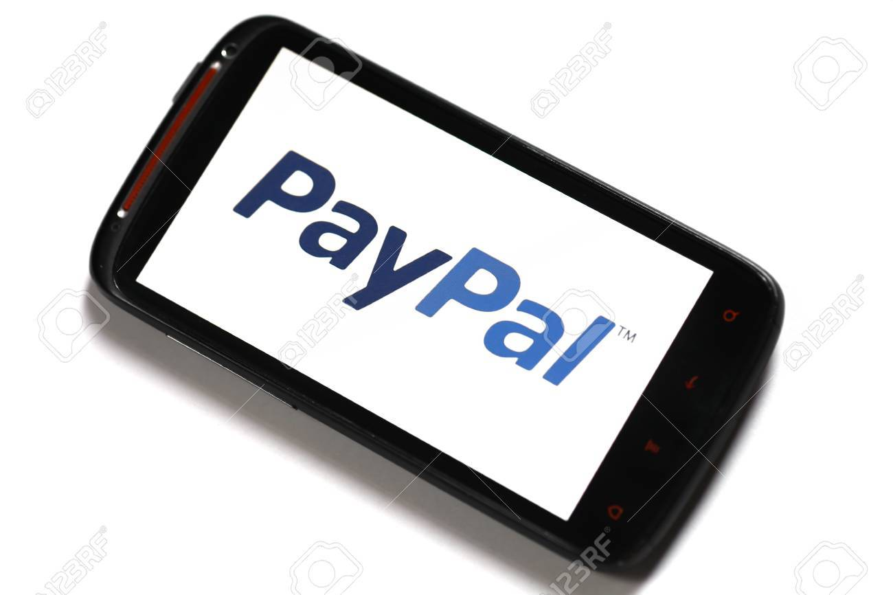 Bucharest, Romania - June 23, 2012: Android smartphone with the PayPal logo displayed on the screen using a picture viewing software. PayPal is the most popular online payment service, allowing payments and money transfers to be made through the Interne. Stock Photo - 14818727