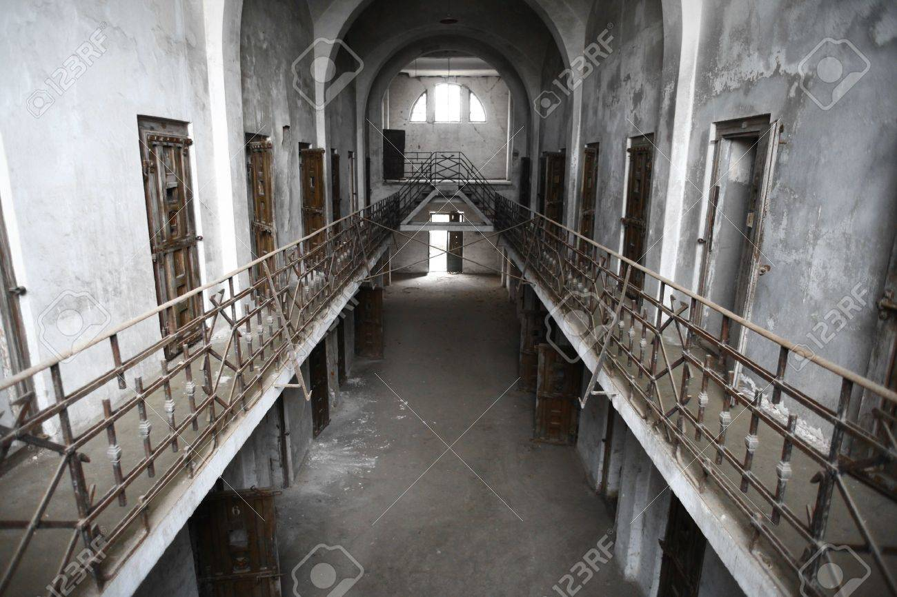 Color picture of an old abandoned prison Stock Photo - 16531660