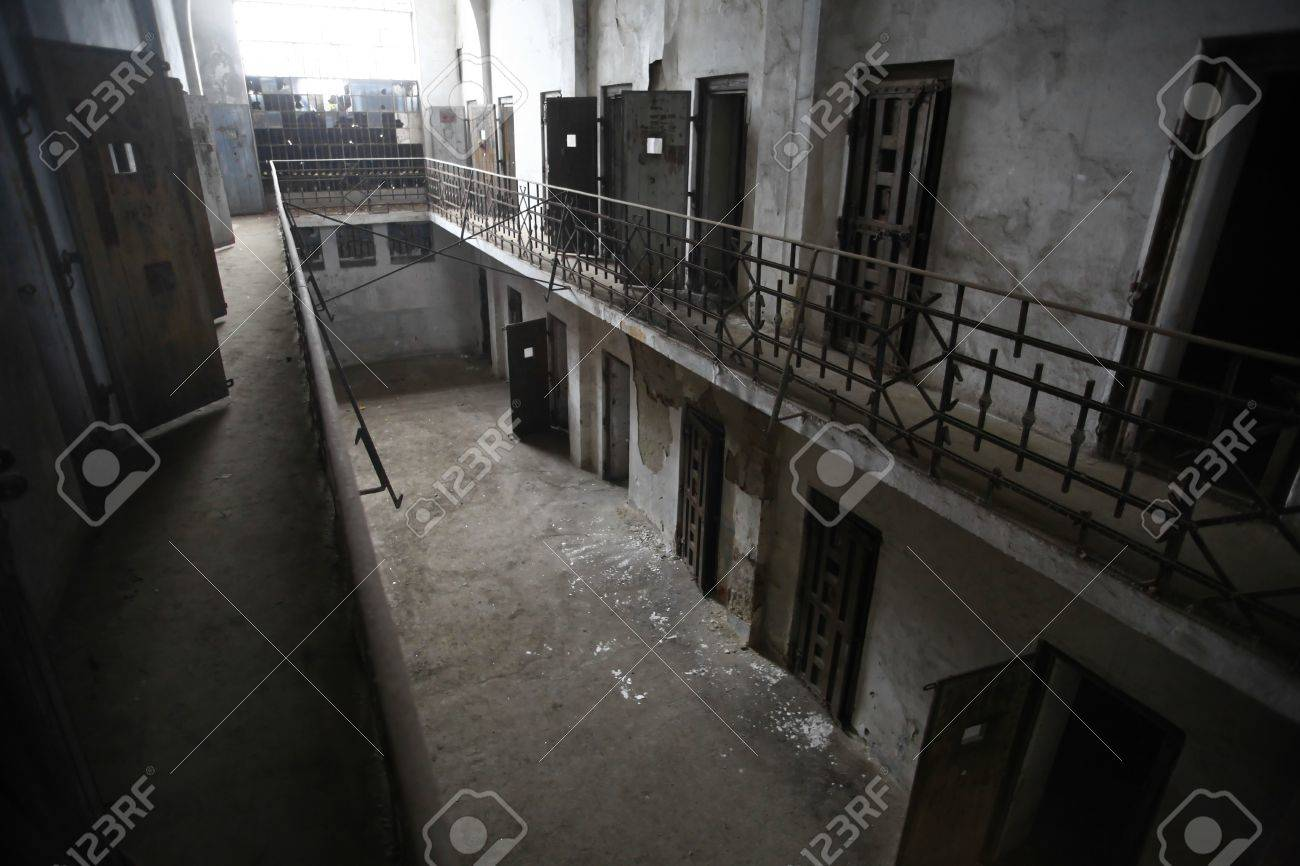 Color picture of an old abandoned prison Stock Photo - 17241193